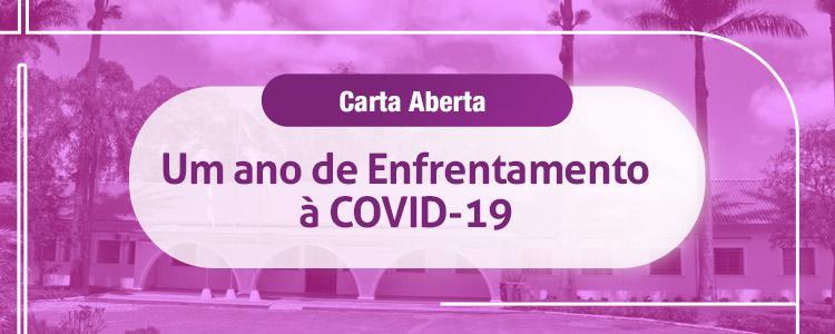 Carta Aberta: Um ano de Enfrentamento à COVID-19