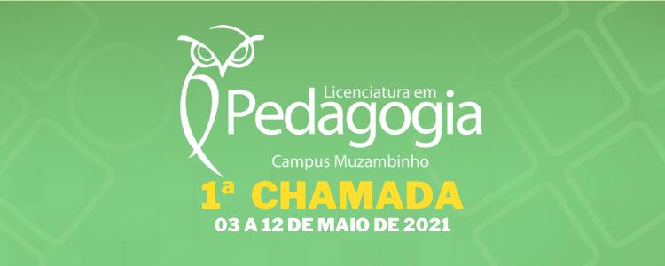 Publicada a 1ª Chamada para o curso de Licenciatura em Pedagogia EaD - Campus Muzambinho