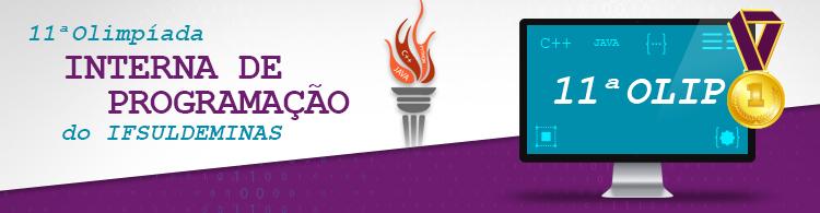 A partir de 17/5, estão abertas as inscrições para a 11ª Olimpíada Interna de Programação do IF