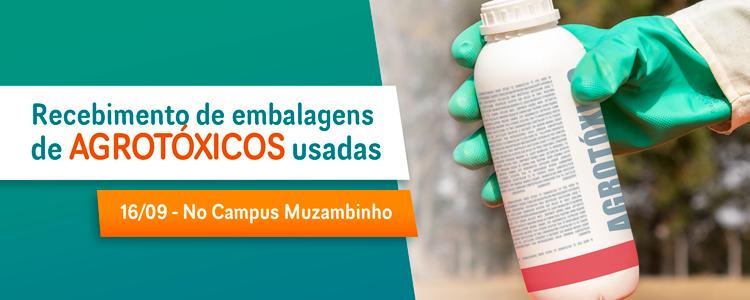 Recebimento de Embalagens usadas de agrotóxicos acontecerá no dia 16/09